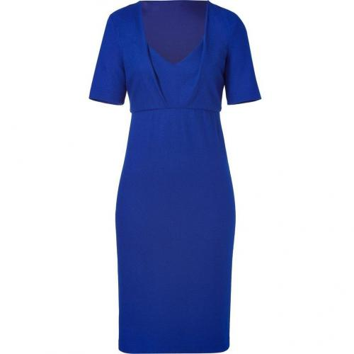 Jil Sander Blue Stone Short Sleeve Sheath Dress