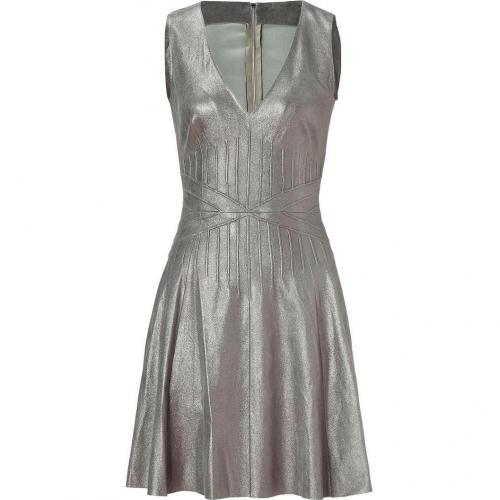 Jitrois Shiny Mud Stretch Leather Dress