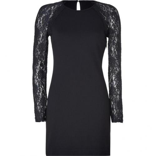 Juicy Couture Pitch Black Ponte and Lace Dress