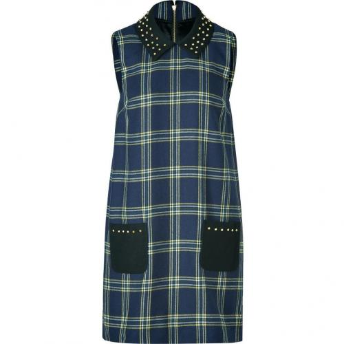 Juicy Couture Regal Blue Plaid Eton Dress