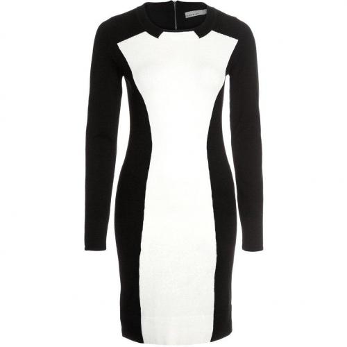 Karen Millen Strickkleid black/white