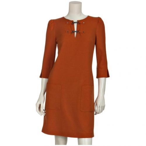 Laurèl Wollkleid Orange
