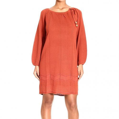M Missoni Long sleeve bow tunic dress