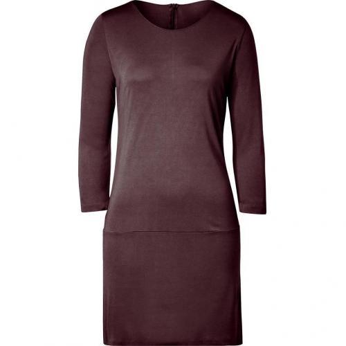 Majestic Aubergine 3/4 Sleeve Jersey Dress