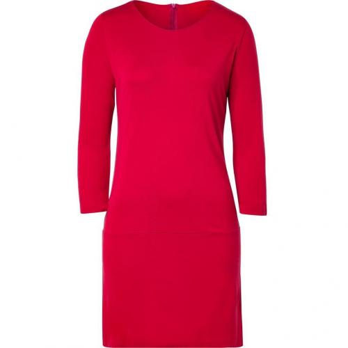 Majestic Carmine Red 3/4 Sleeve Jersey Dress