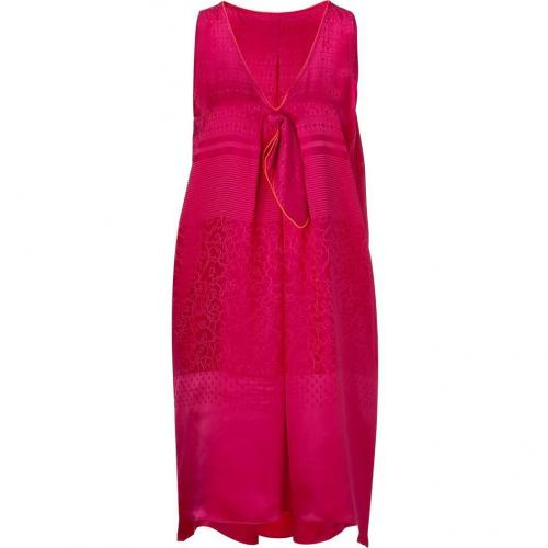 Marc by Marc Jacobs Magenta Silk Jacquard Dress