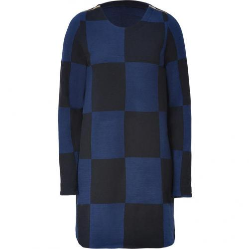 Marc by Marc Jacobs New Prussian Blue Multicolor Checkered Dress