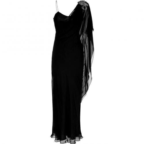 Matthew Williamson Black Asymmetric Gown