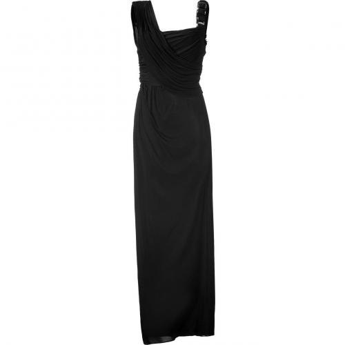 Matthew Williamson Black Twist Gathered Gown
