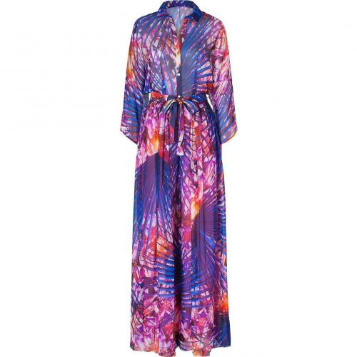 Matthew Williamson Escape Pink-Multi Wide Leg Printed Silk Jumpsuit