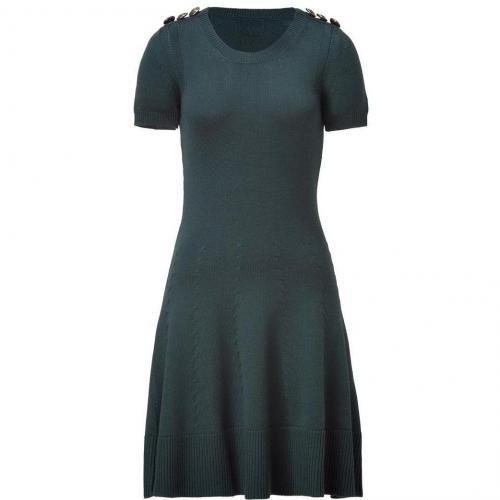 McQ Alexander McQueen Military Green Virgin Wool Knit Dress