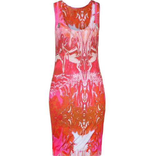 McQ Alexander McQueen Neon Pink Racer Back Dress