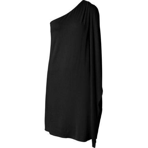 Michael Kors Black One Shoulder Flutter Sleeve Dress