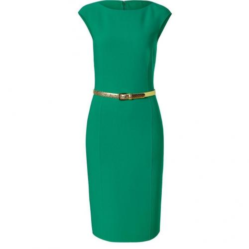 Michael Kors Emerald Belted Wool-Blend Sheath Dress