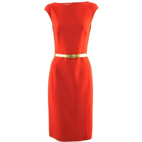 Michael Kors Red Gold Belted Dress