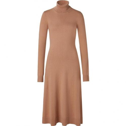 Michael Kors Suntan Cashmere Turtle-Neck Dress