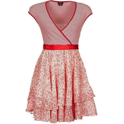 new product c66d1 42f52 Miss Sixty Witty Dress Sommerkleid rot/weiß