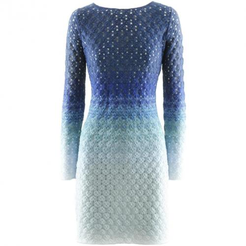 Missoni Blue Glitter Knit Dress