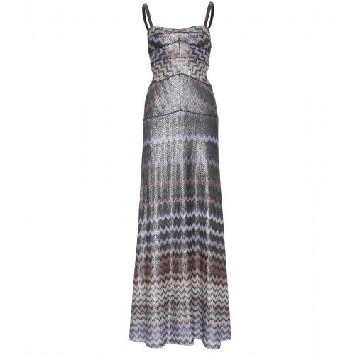 Missoni Bodenlanges Metallic-Kleid