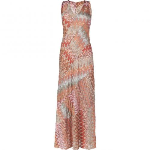 Missoni Coral Multi Color Maxi Dress