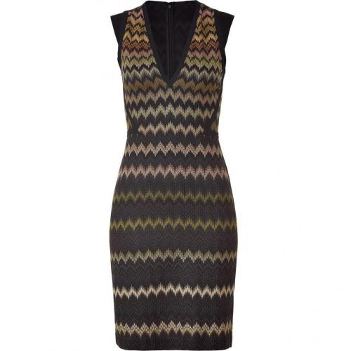 Missoni Graphite/Jade Patterned Knit-Dress