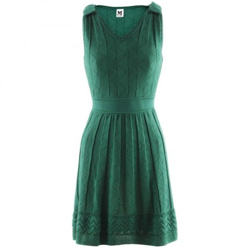 Missoni M Green Crochet Knit Dress Viva