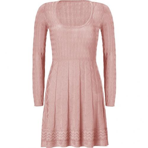 Missoni M Rose Quarz Wool-Blend Scoop Neck Knit Dress