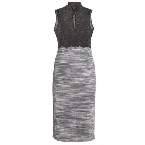 Missoni Metallic-Strickkleid
