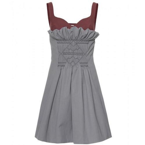 Miu Miu Kleid Im Layering-Stil