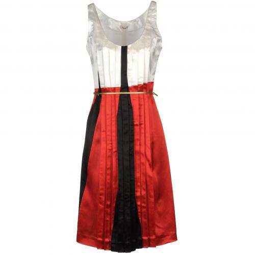Miu Miu Knielanges Kleid Elfenbein