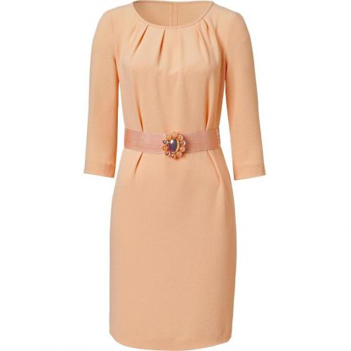 Moschino C&C Apricot Belted Crepe Dress