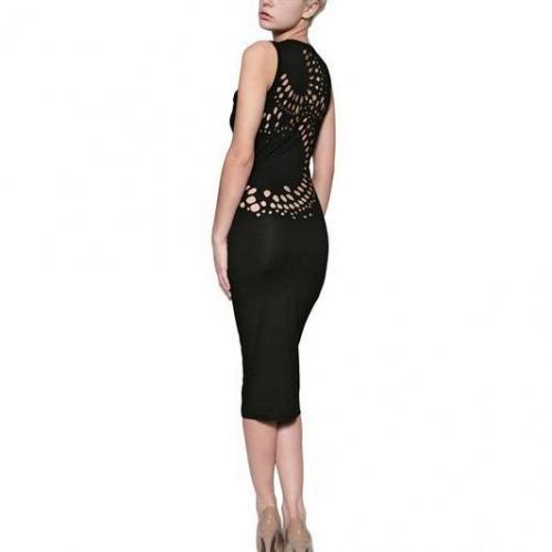 Murmur Stretch Baumwoll Jersey Kleid Im Distressed Look