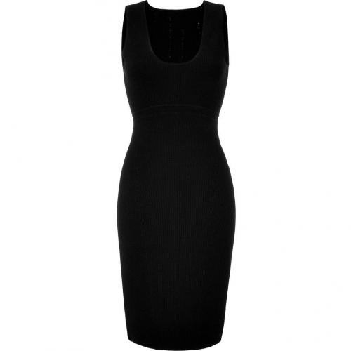 Narciso Rodriguez Black Knit Pencil Dress
