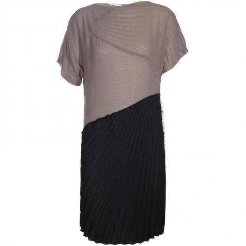 Nude Kleid Schwarz-Taupe