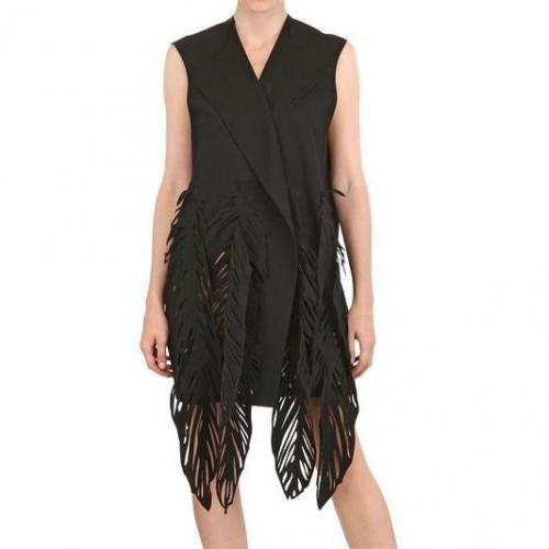 Paskal Woll Kaschmir Laser Cut Weste Kleid