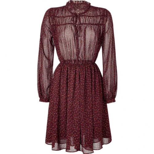 Paul & Joe Sister Maroon Multicolor Printed Dress