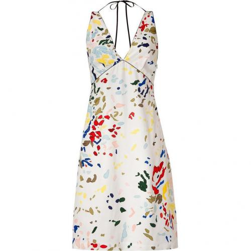 Paul Smith White Multicolor Halter Dress