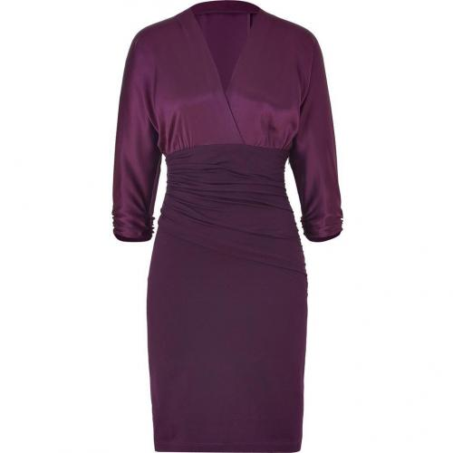 Paule Ka Aubergine Draped Combo Dress