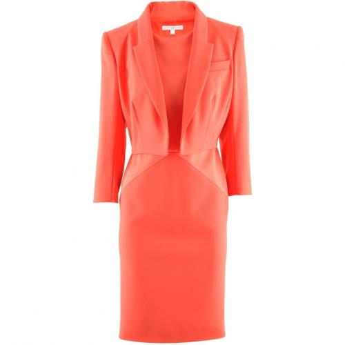 Paule Ka Coral Dress Blazer Ensemble