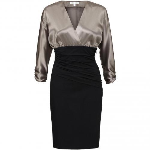 Paule Ka Kleid schwarz und Metallic-Grau