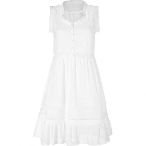 Philosophy di Alberta Ferretti White Sleeveless Cotton Romantic Dress
