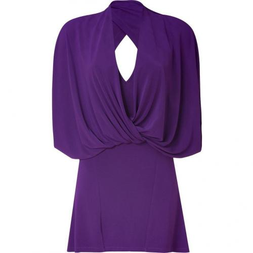 Plein Sud Amethyst Draped Dress