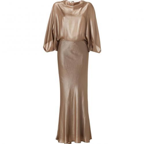 Plein Sud Matte Gold Silk Gown