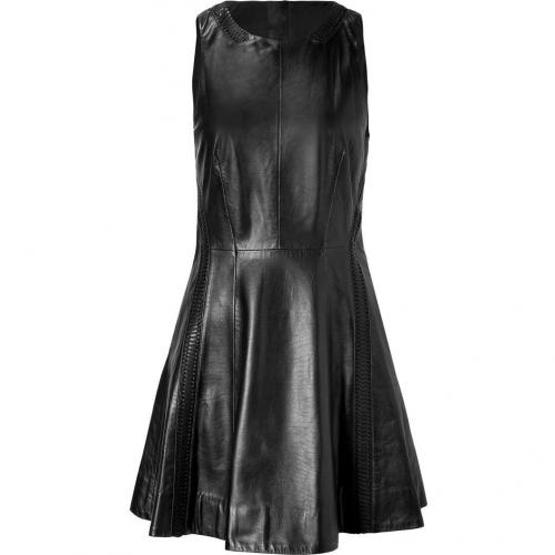 Rag & Bone Black Leather Renard Dress