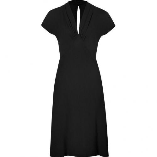 Ralph Lauren Black Crepe Lana Dress