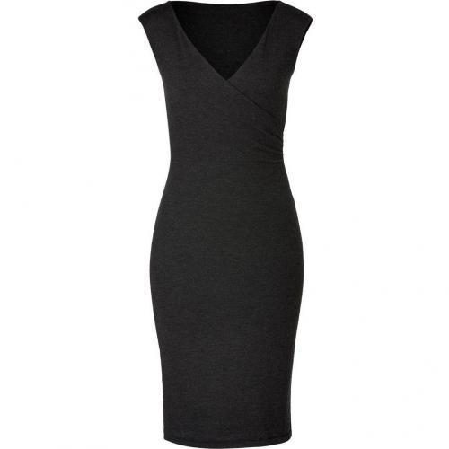 Ralph Lauren Black Dark Granite Heather Corespun Cashmere Dress