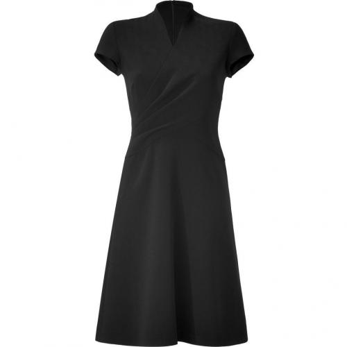 Ralph Lauren Collection Black Double Face Wool Crepe Harper Dress