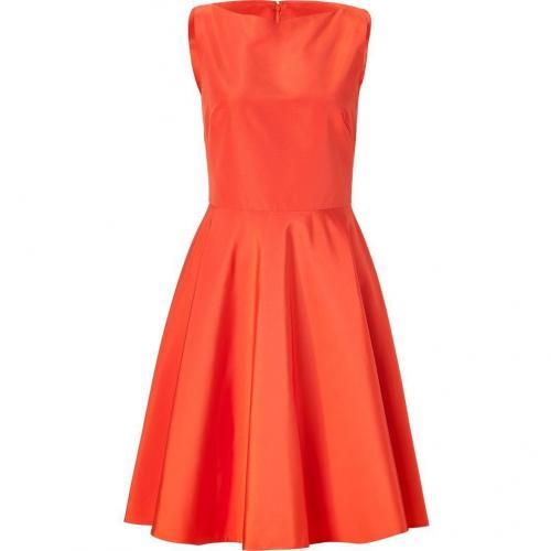 Ralph Lauren Collection Orange Cotton-Silk Rebecca Dress