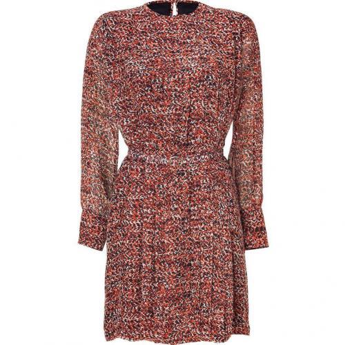 Raoul Black/Red Silk Breezy Dress