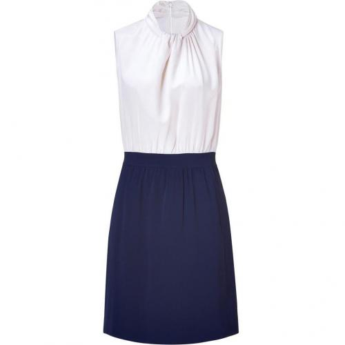 Raoul Vanilla/Deep Blue Twist Dress